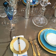 Harlequin table setting