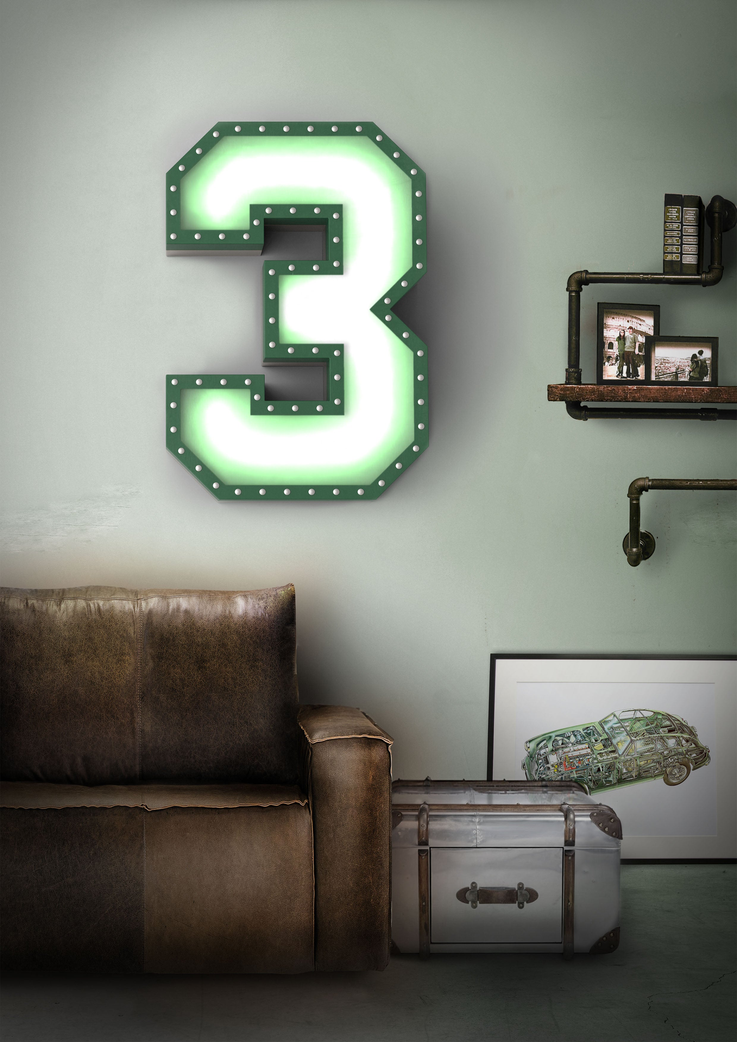 Delightful graphic collection numeral 3