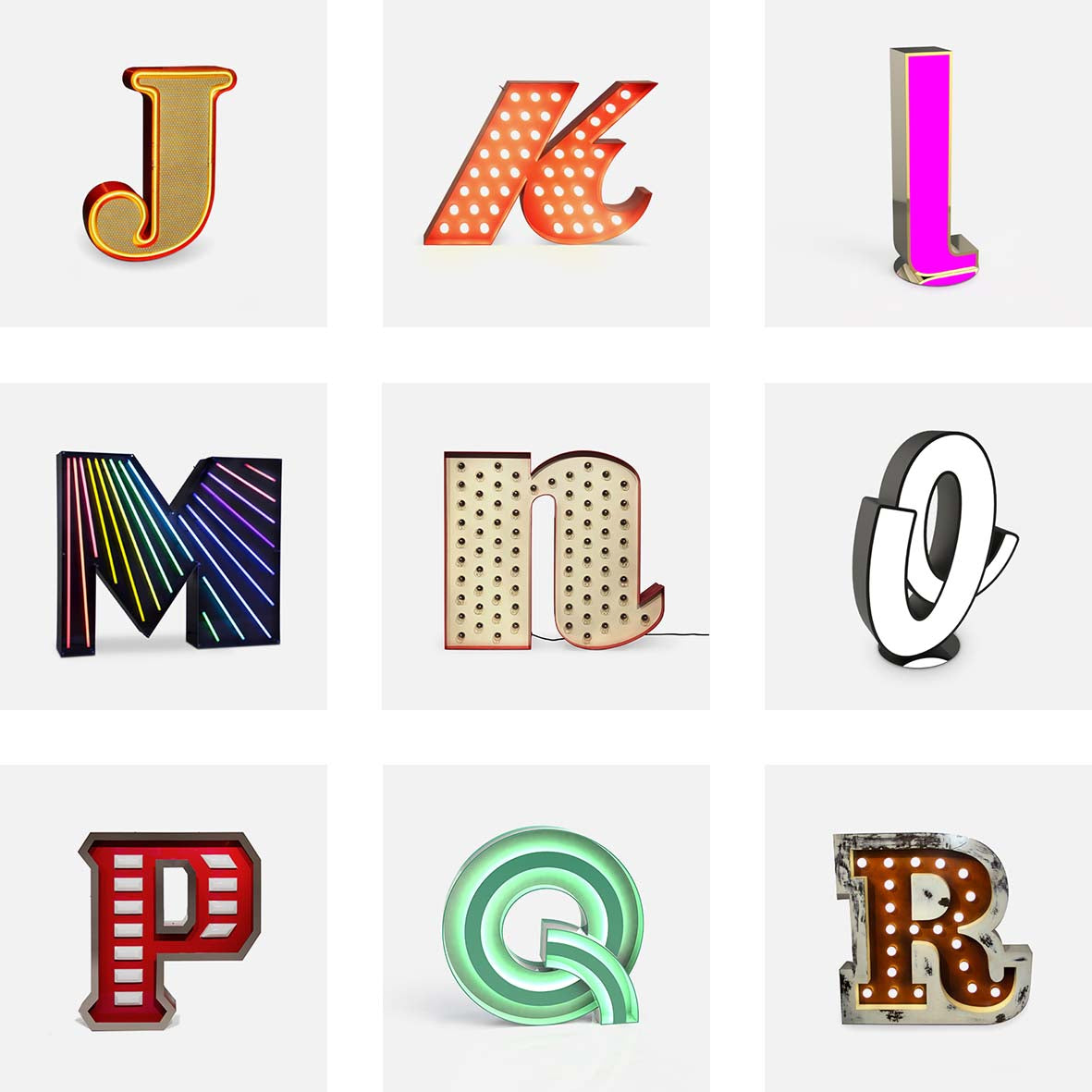 Delightful Graphic collection letters J - R