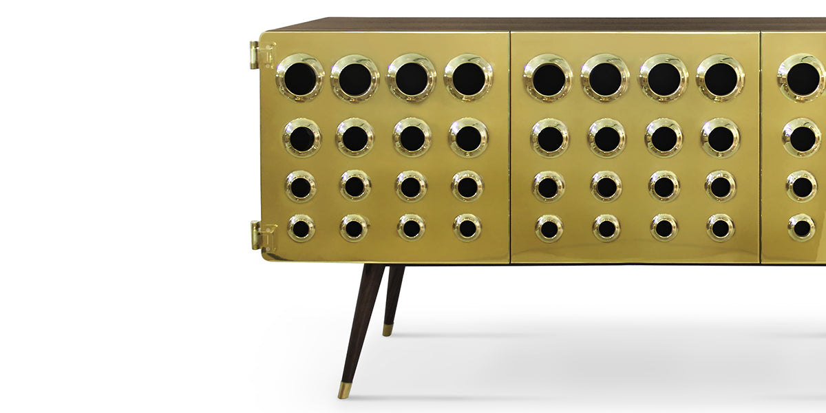 Monocles Brass sideboard from Delightfull