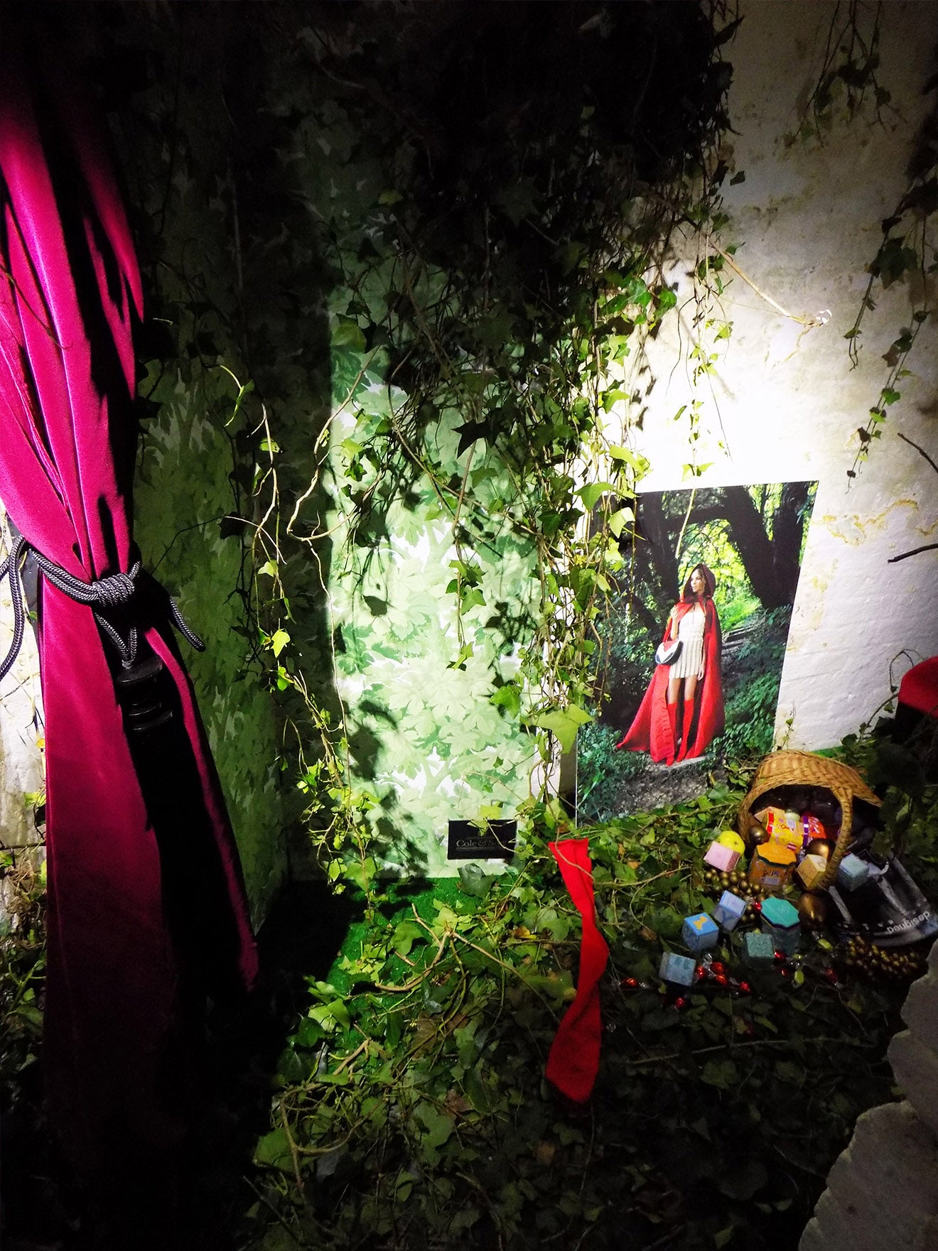 Little red riding hood style room at the Designed magazine launch party