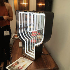 Y graphic light from Delightfull on display at Decorex