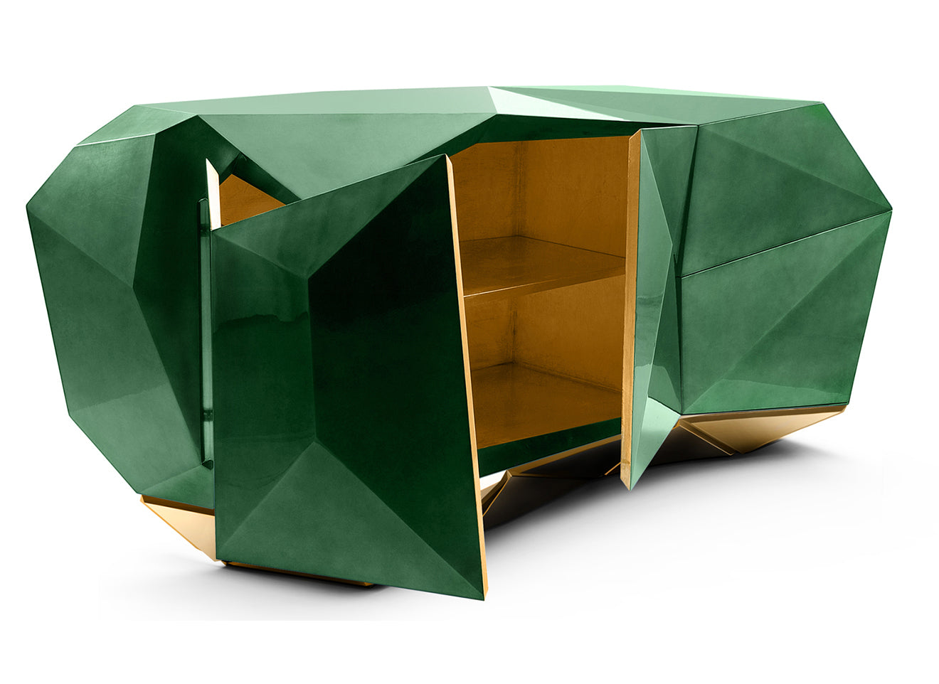 Green diamond sideboard from Boca Do Lobo