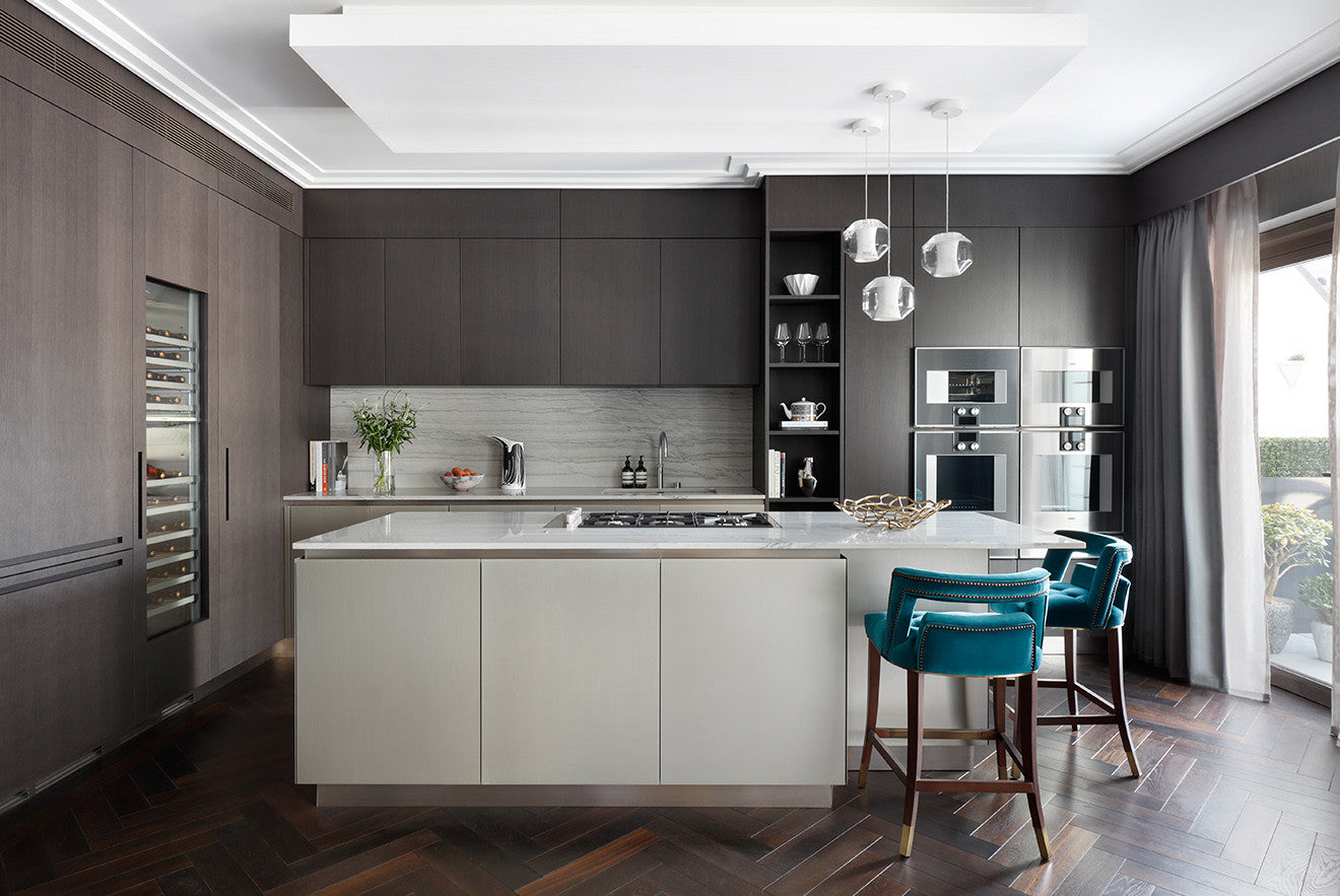 Open plan luxury kitchen design by Oliver Burns Beau House Penthouse