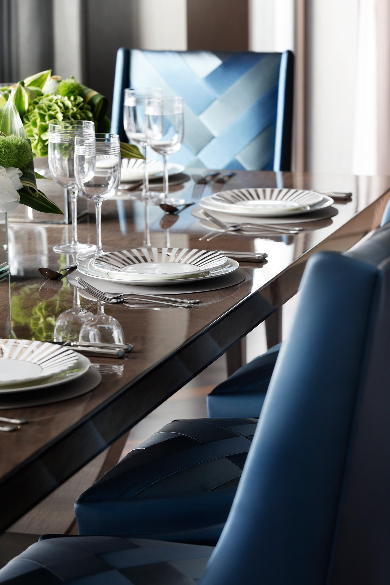 Luxury dining setting designed by Oliver Burns