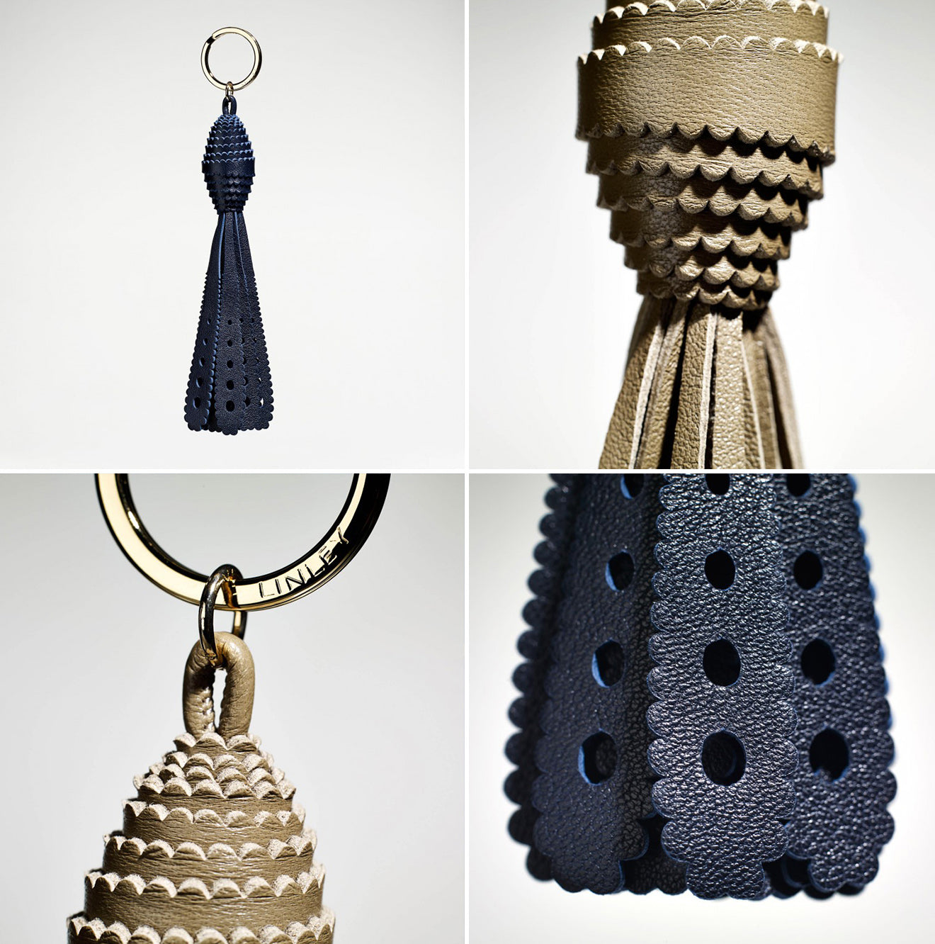 LINLEY Gift accessory key ring from the Girih collection