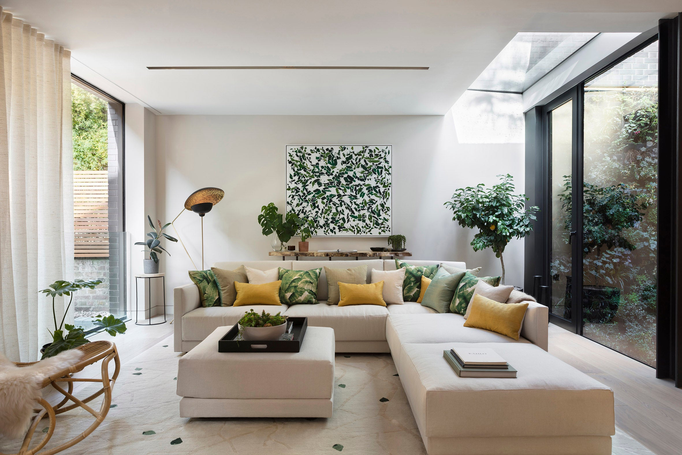Echlin Studio Leverton House Luxury Residence Living Area and Light Well