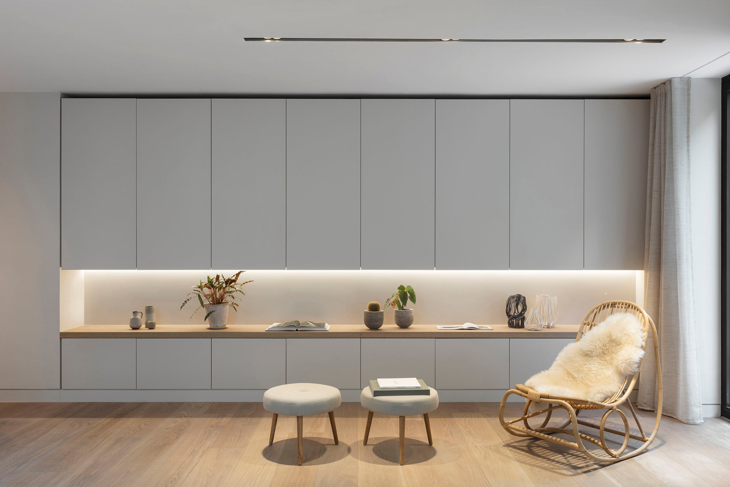 Echlin Studio Leverton House Luxury Residence Living Space Storage