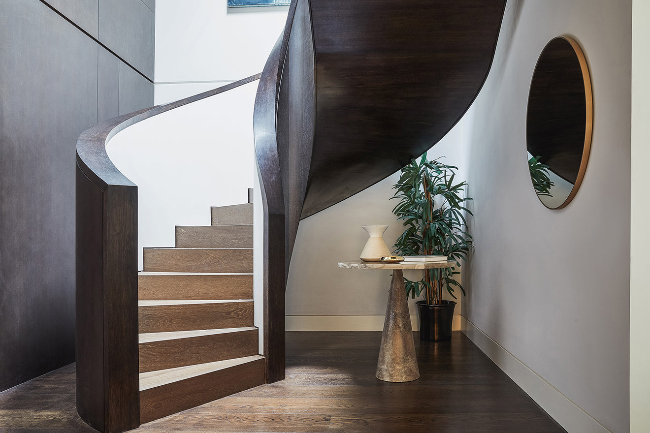 Echlin Studio London Rathbone Square Penthouse Spiral Staircase