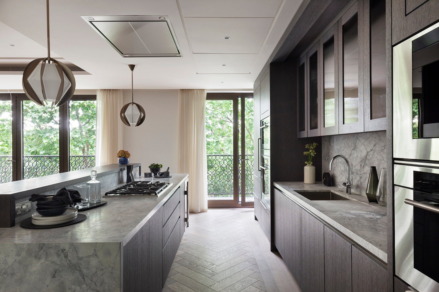 Kitchen - Elicyon design the interiors for the Chelsea Barracks show residence in London