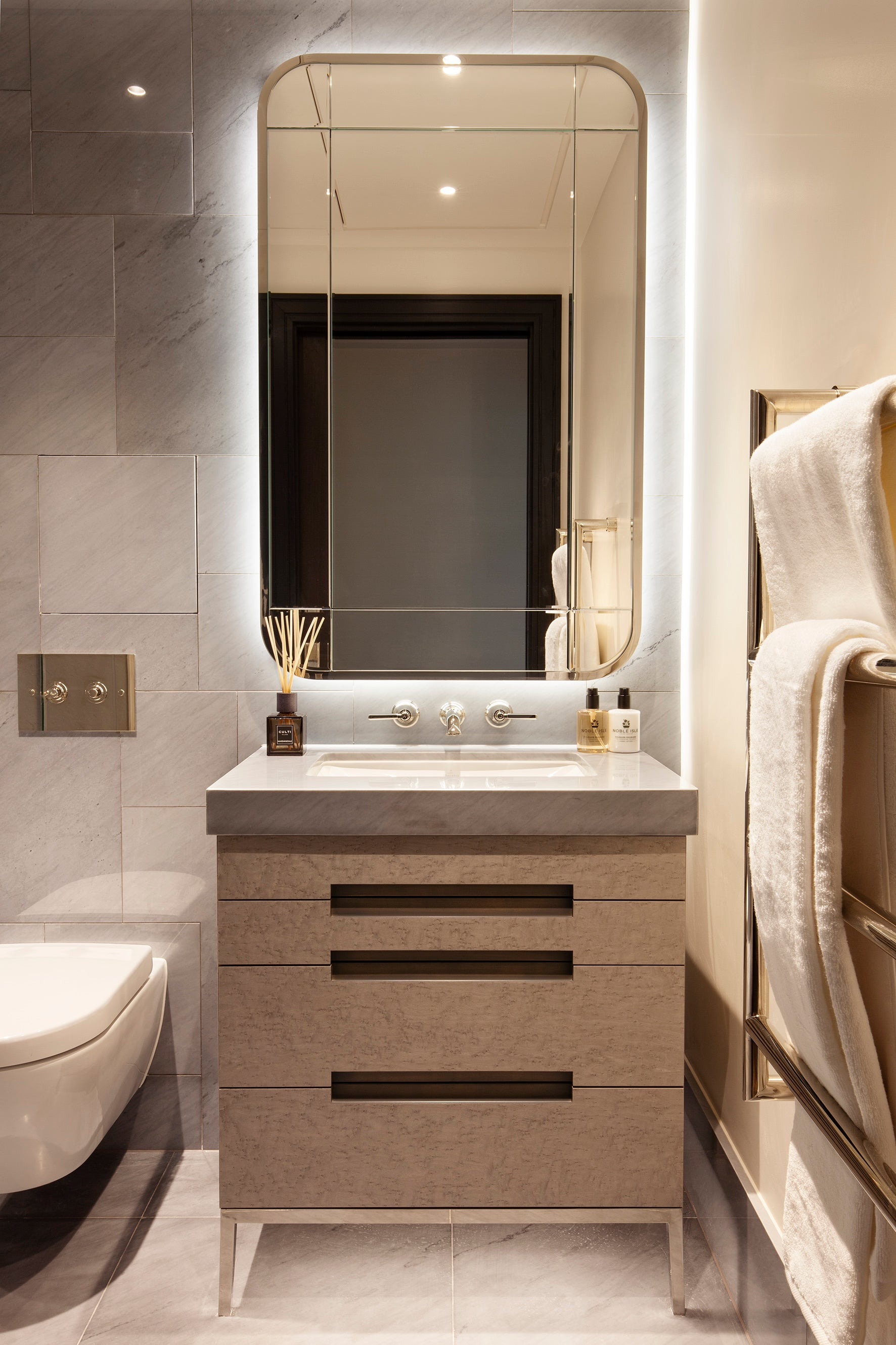 Bathroom - Elicyon design the interiors for the Chelsea Barracks show residence in London