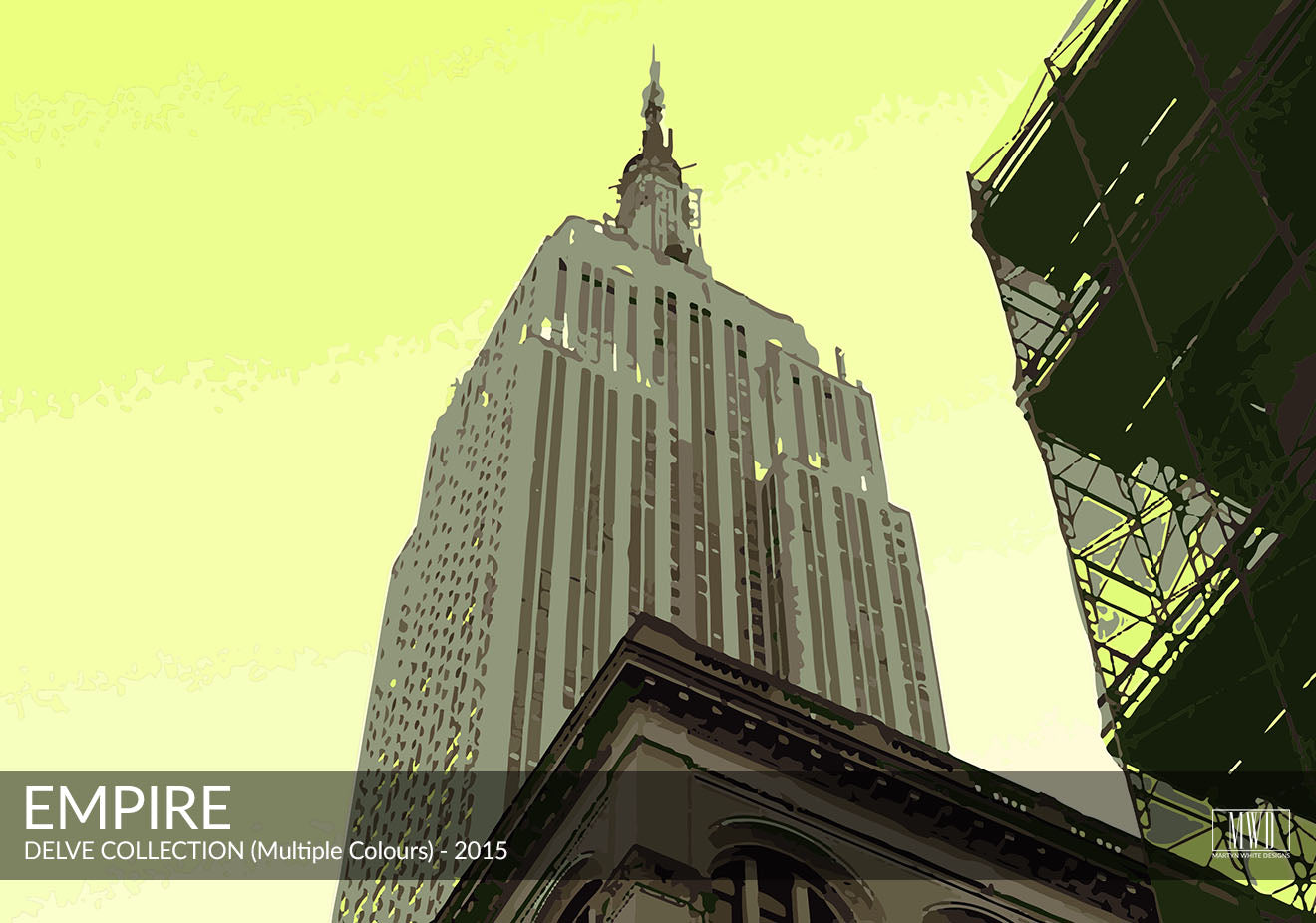 Abstract Empire State Building Art Print New York Martyn White Designs Portfolio
