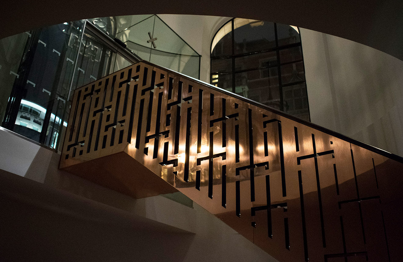 Copper Staircase design at Eneko One Aldwych