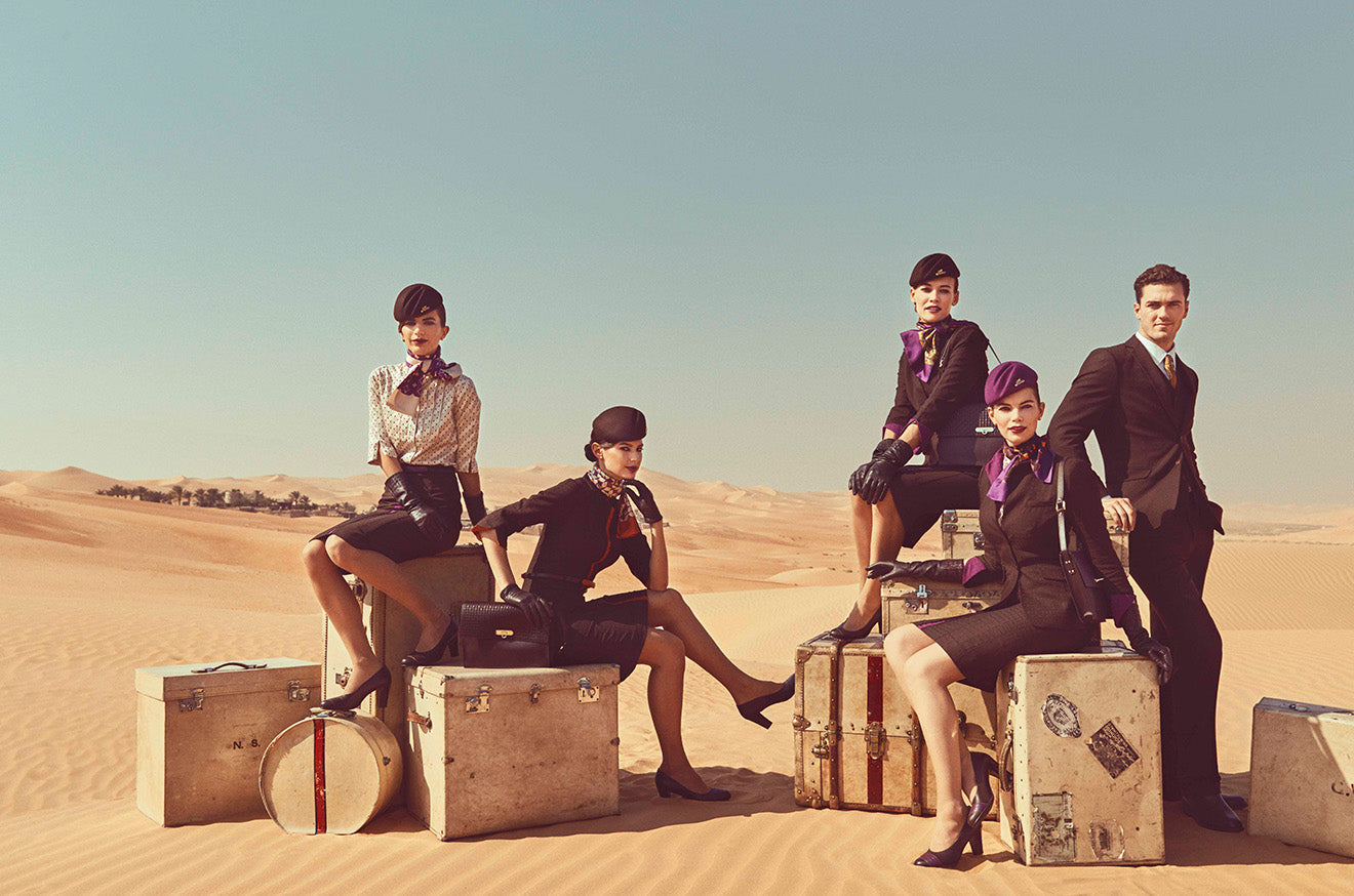 Etihad cabin crew uniforms 2016