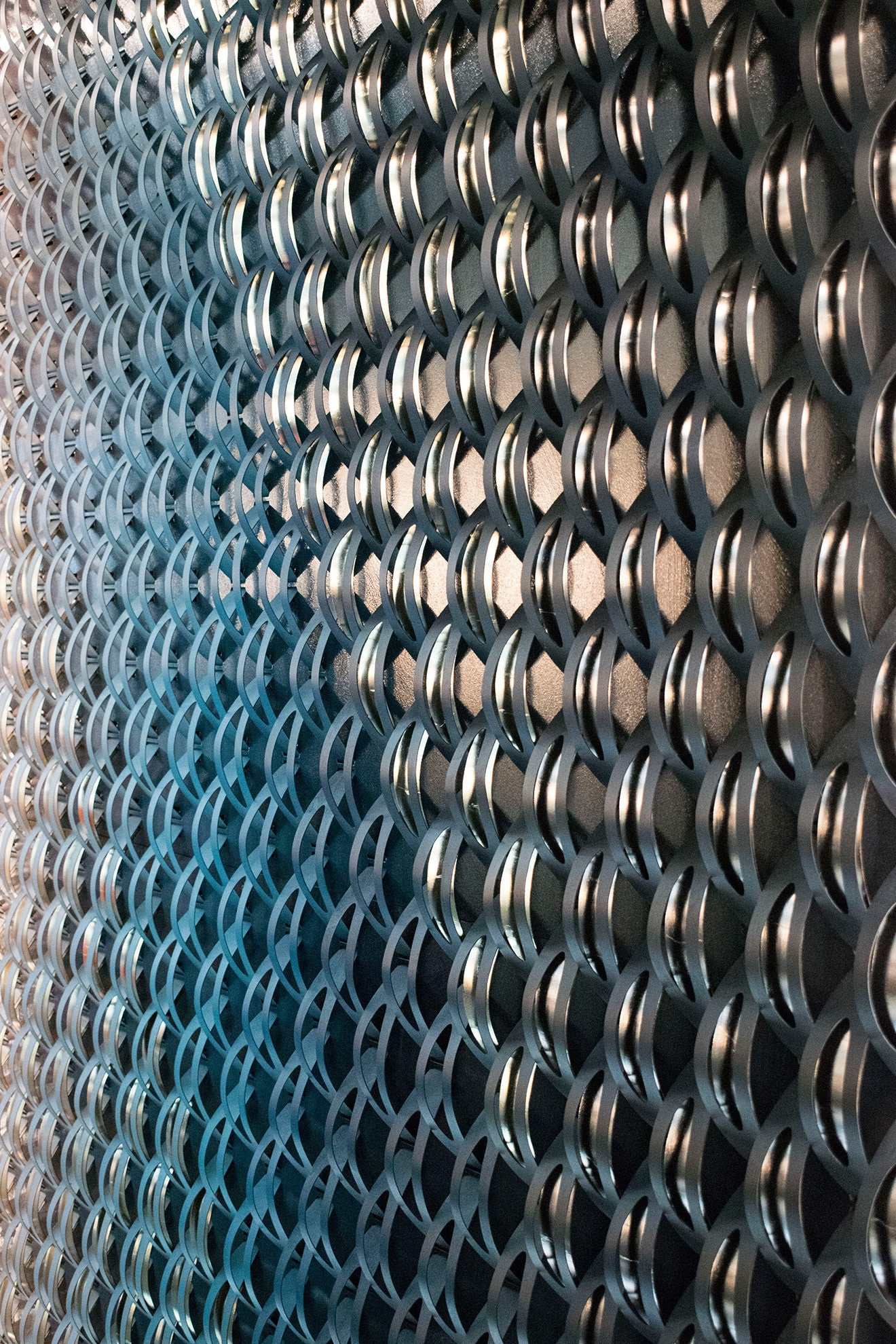 Modern futuristic style wall covering from Evan James Design