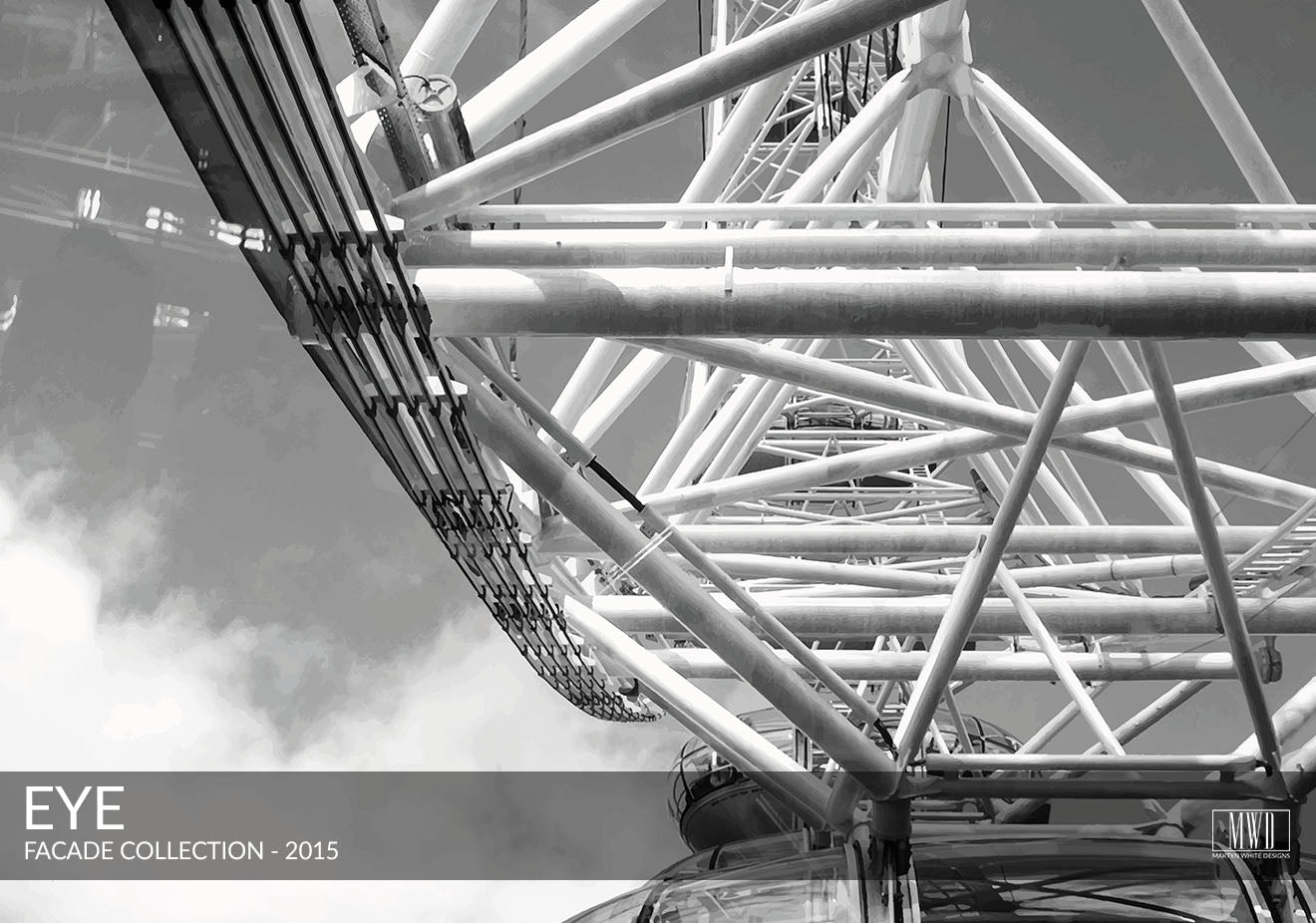 London Eye black and white photography