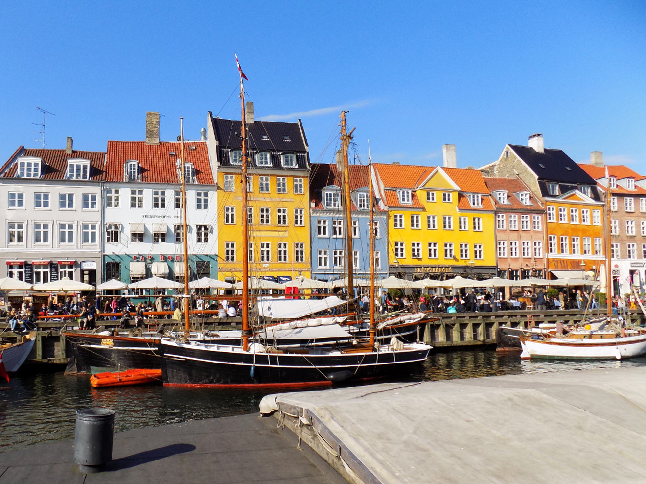 Nyhavn colourful buildings in Copenhagen