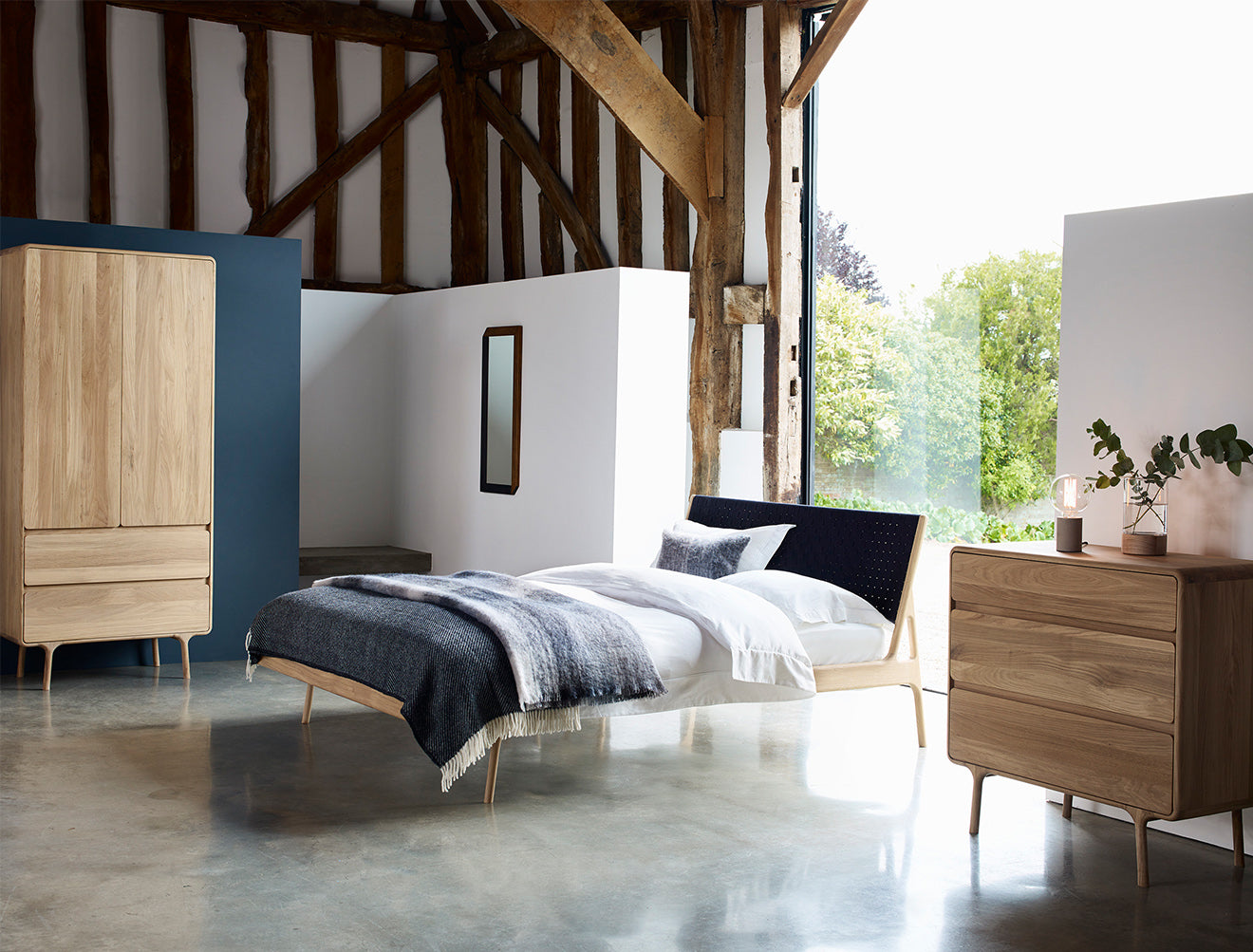 The Fawn Collection Bed, Dresser and wardrobe from Heal's AW15 collection