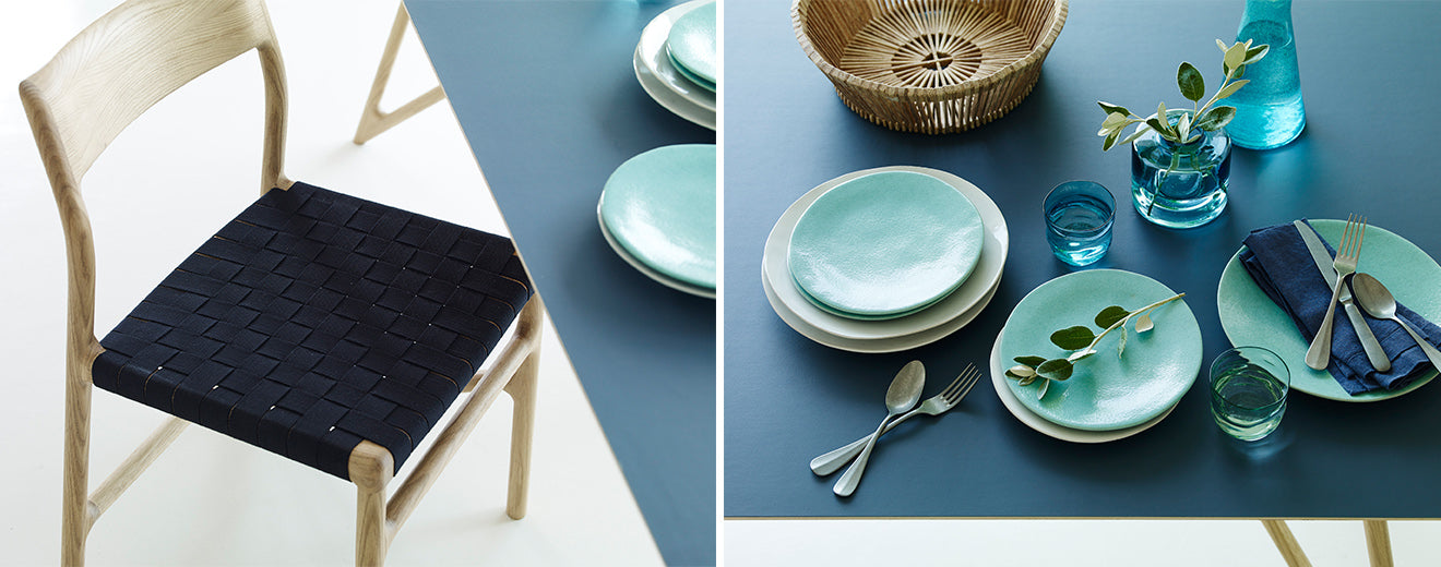 Fawn collection table and crockery set from Heal's AW15 Collection