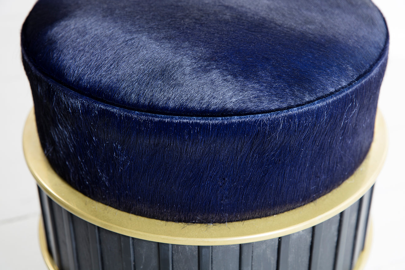 Felice James furniture collaboration Upholstered Stool