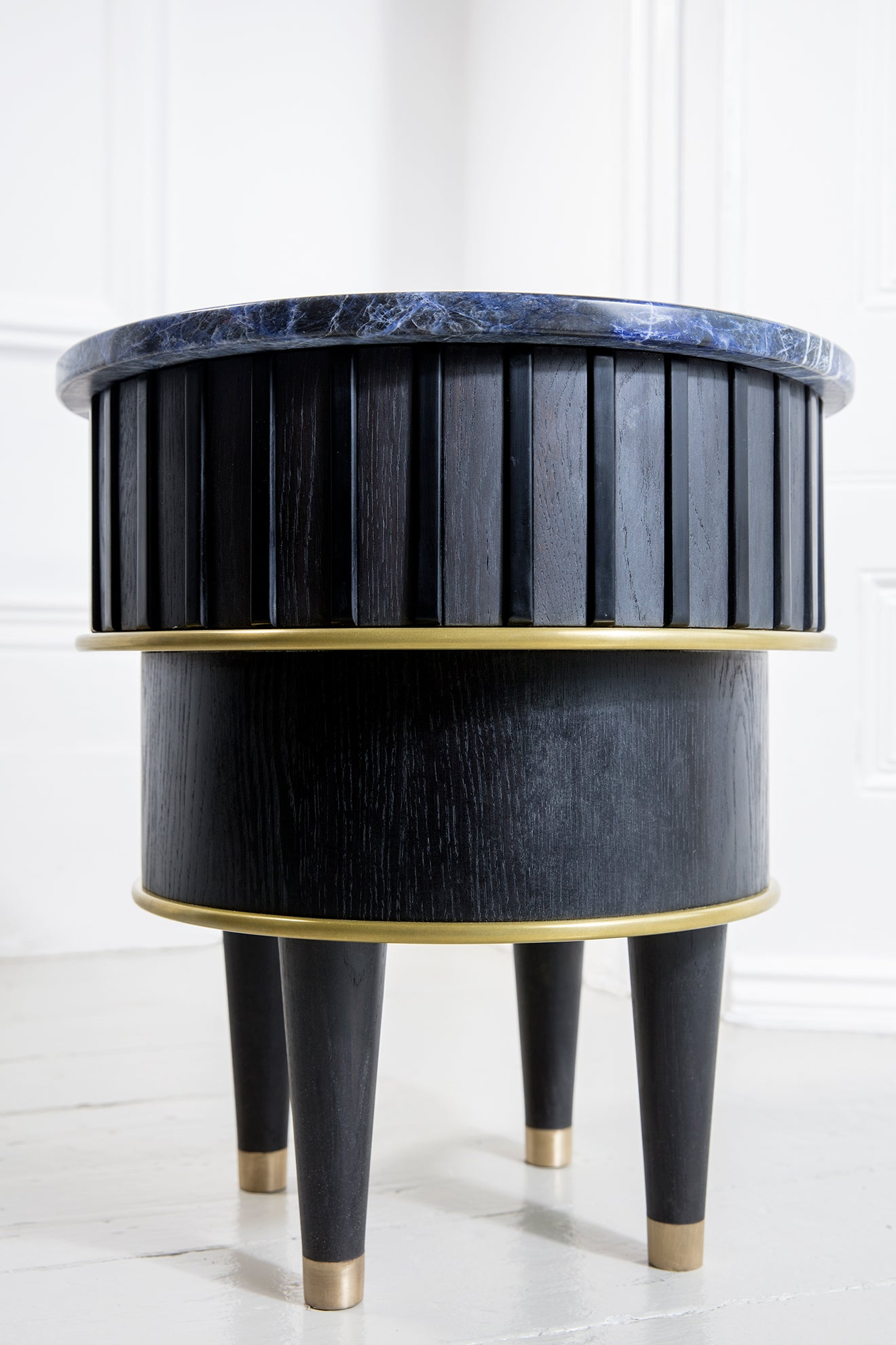 Felice James furniture collaboration stone topped side table