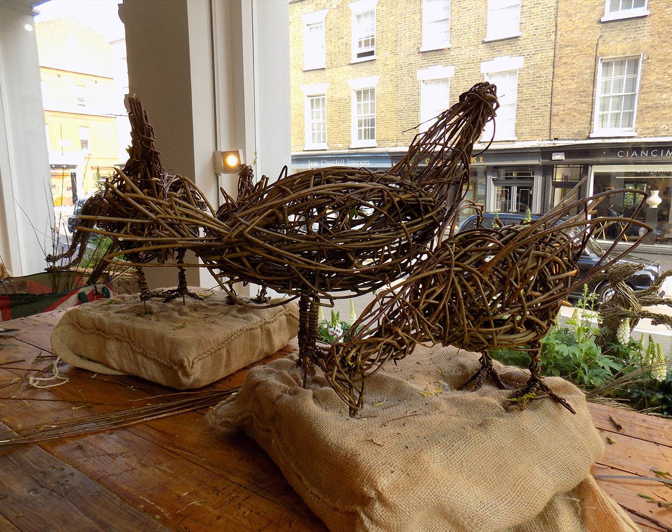 Willow Hen and rooster sculpture workshop