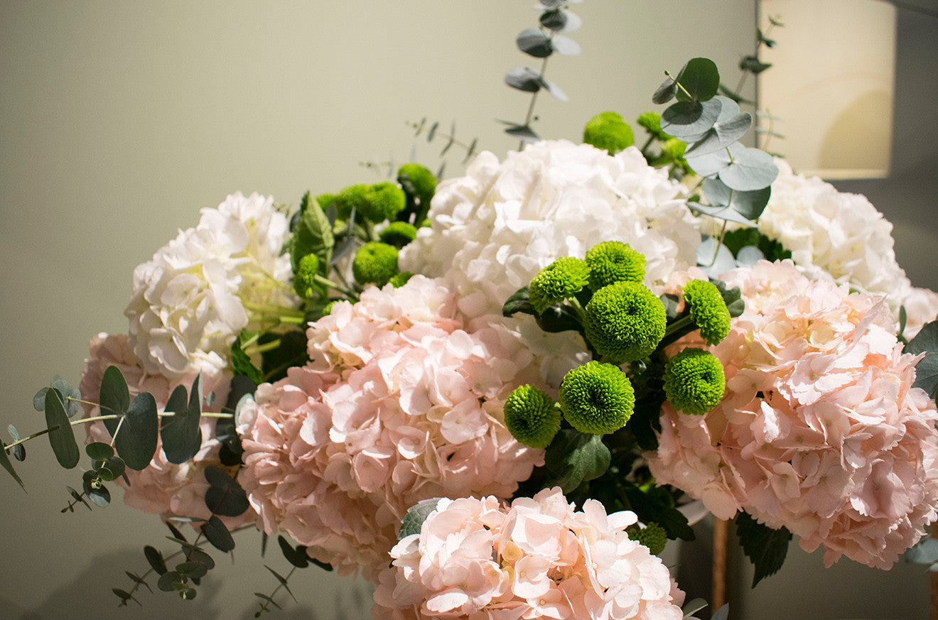 Floral display from Phillip Corps at Marc De Berny