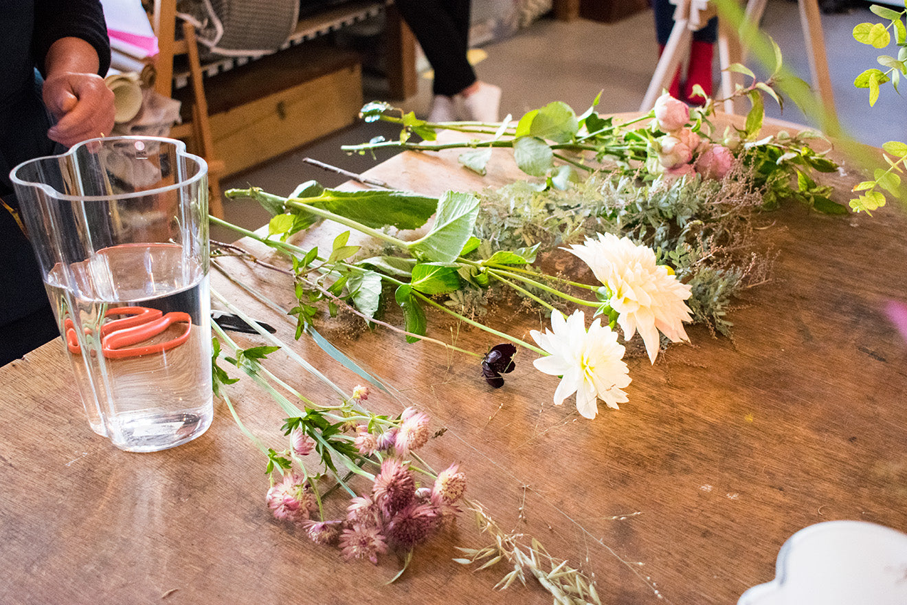 Iittala launch new Alvar Aalto collection. Flower appreciation Society Workshop.
