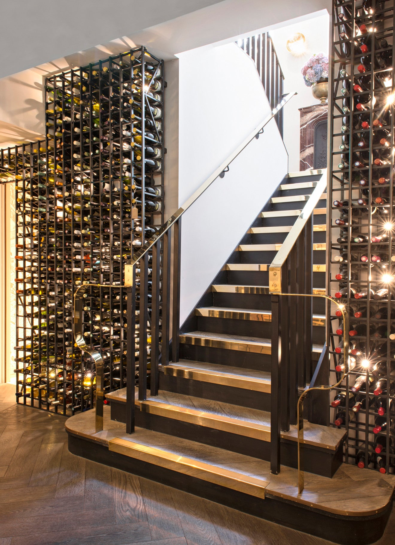 wine wall at Frenchie restaurant Covent Garden