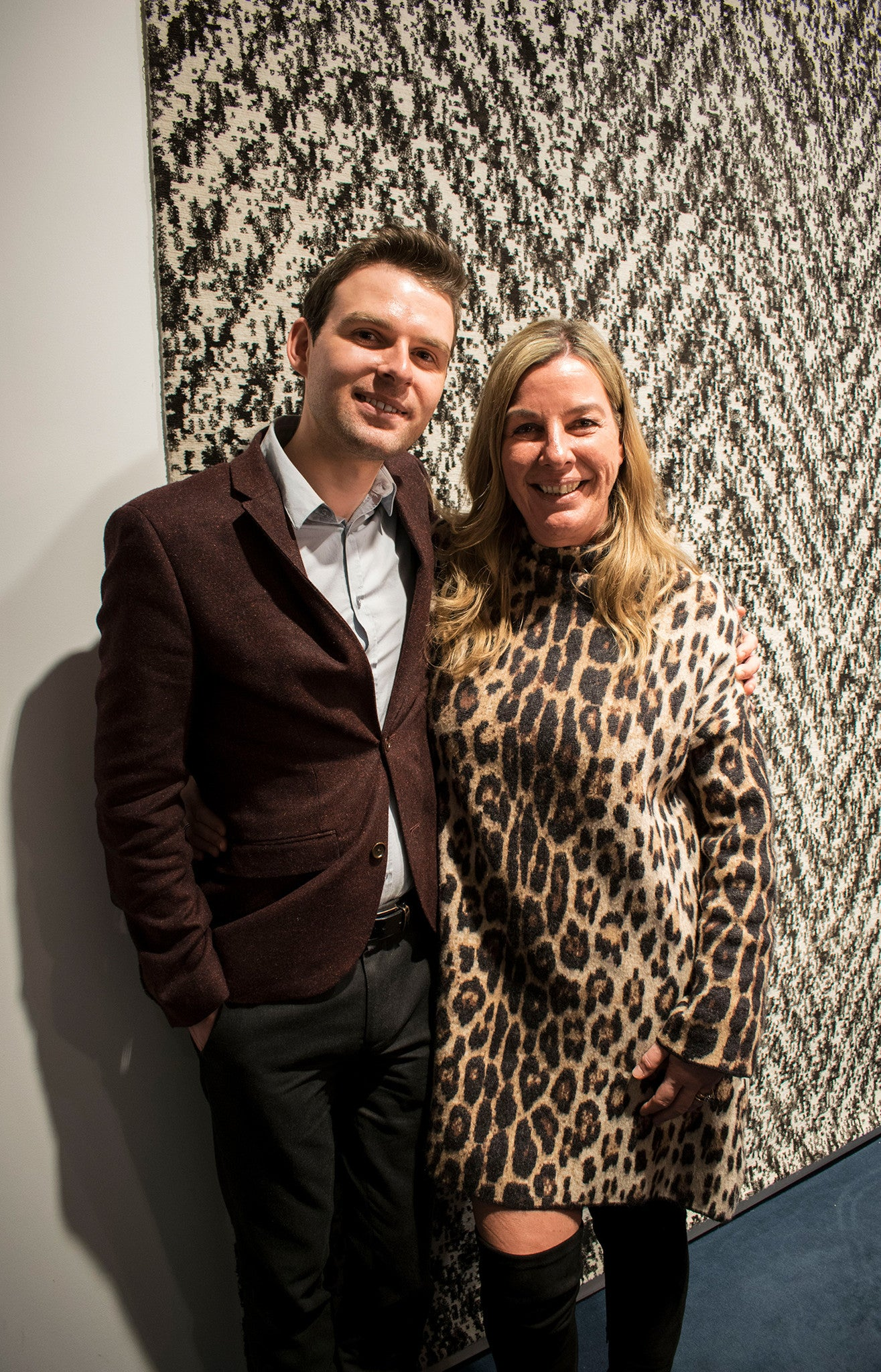 Front Rugs designer Michaela Schleypen and interiors blogger Martyn White