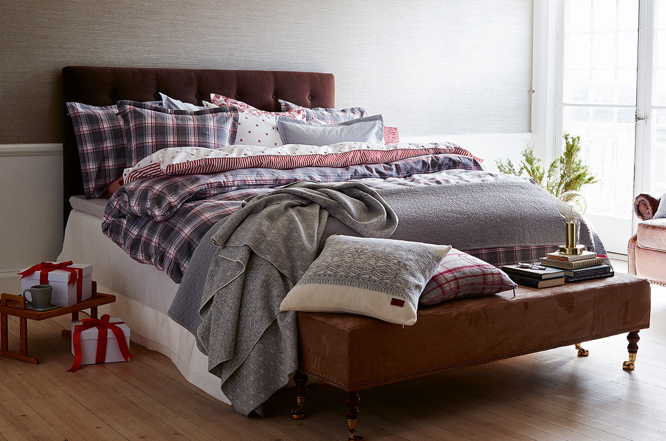 Gant home christmas bedroom and bed linen