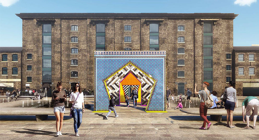 Turkishceramics is collaborating with designer Adam Nathaniel Furman to design Gateways, a ceramic installation for Granary Square