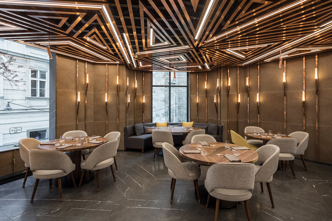AI Restaurant interior design Vienna, Austria by Gatserelia Design