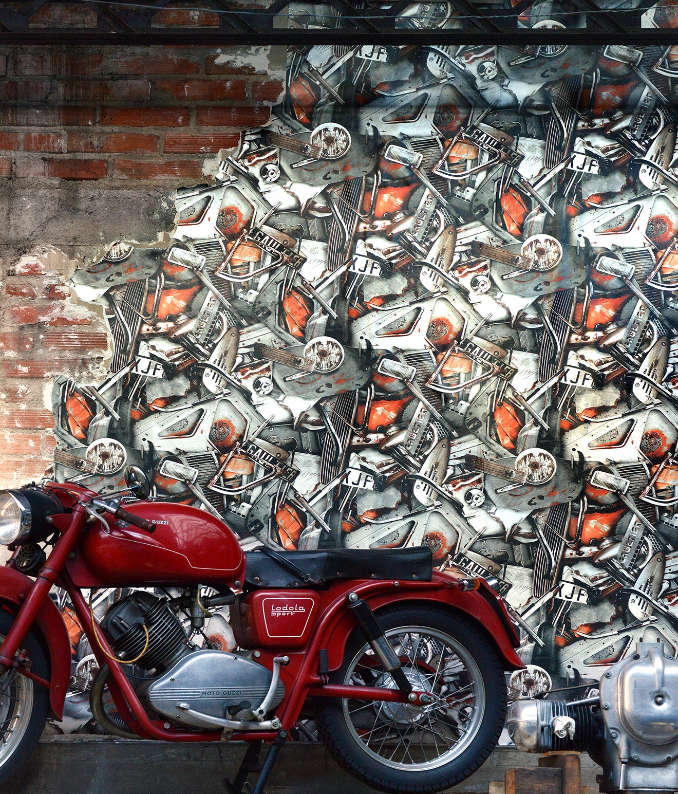 Gaultier Motorbike wallpaper collection