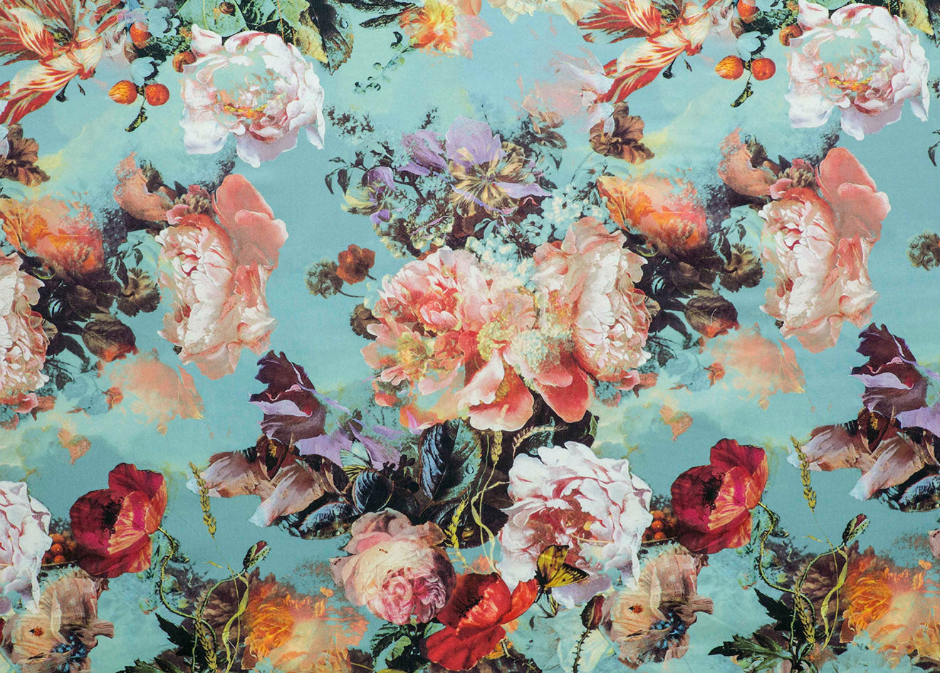 Gaultier blue floral wallpaper