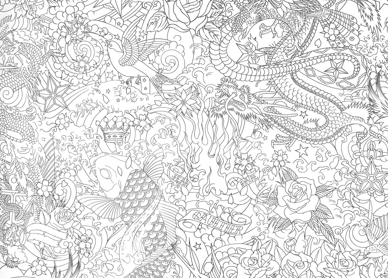 ... Gaultier tattoo inspired wallpaper