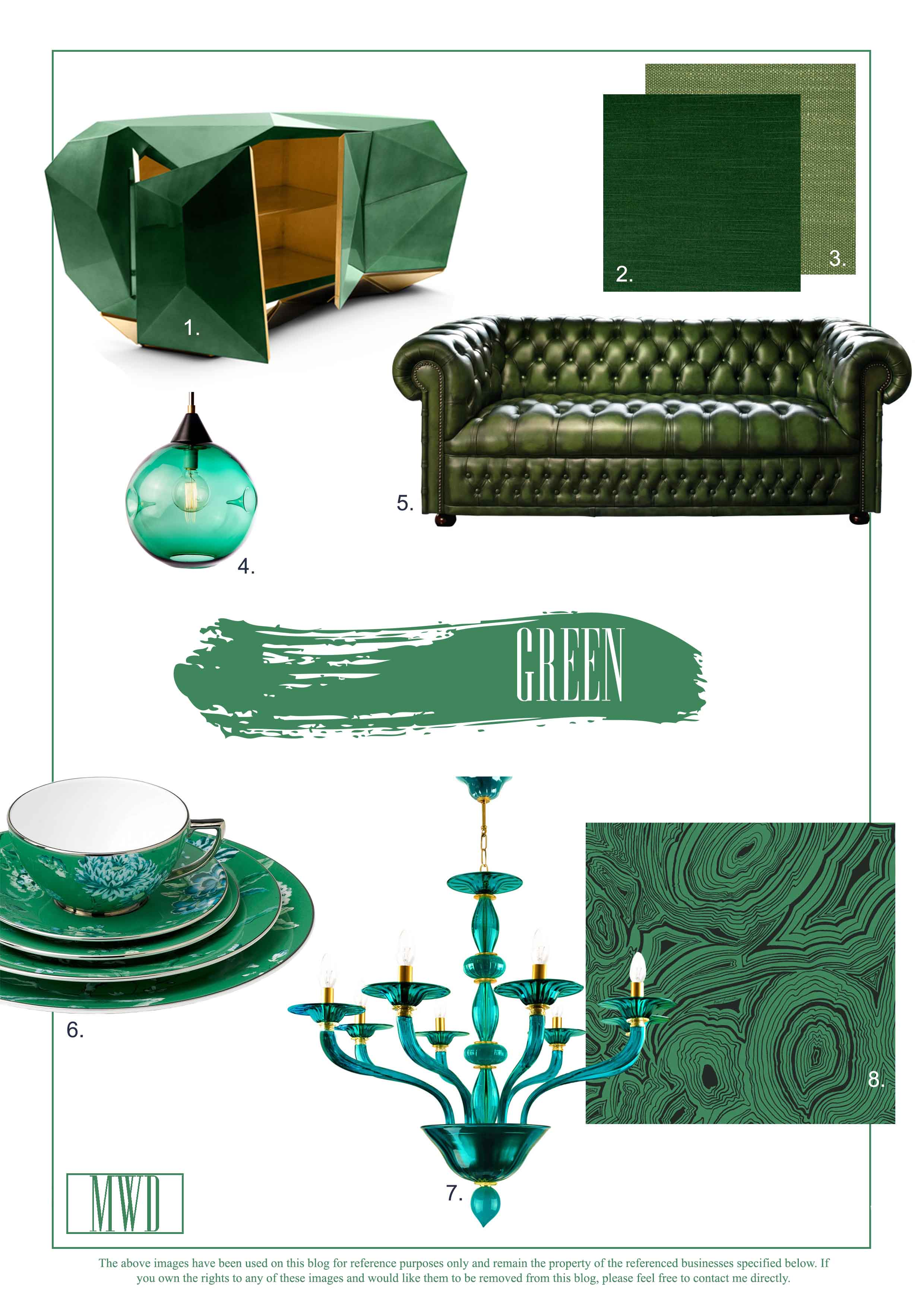 Green Accessory and decoration ides for the home