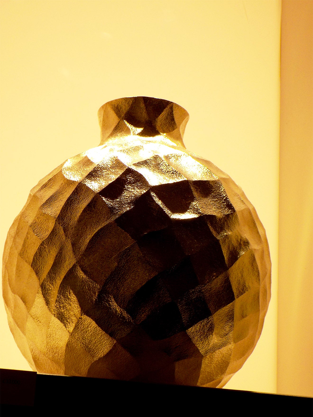 Luxury gold modern vase on display at Masterpiece 2016