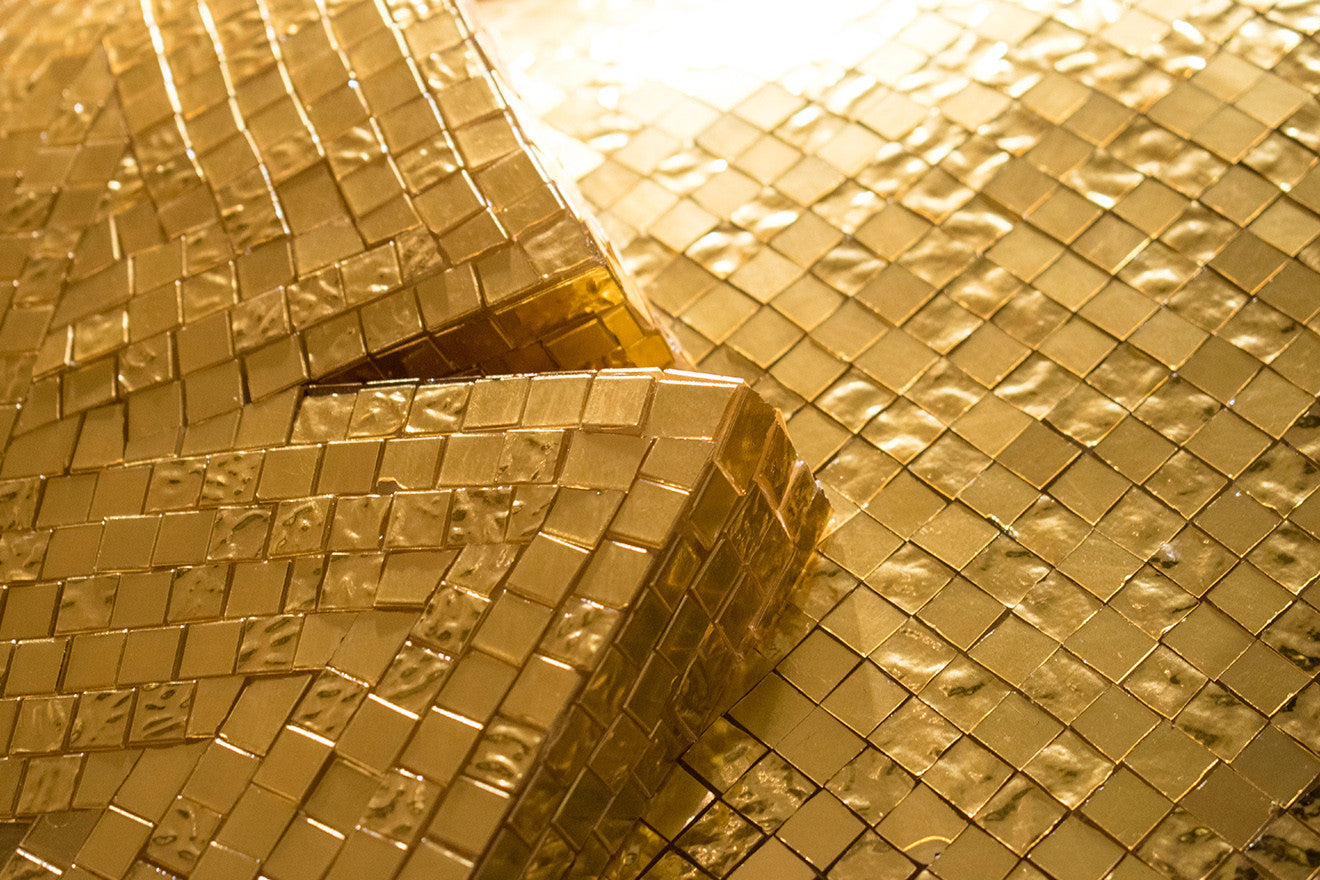 Bisazza 24 carat gold tiles