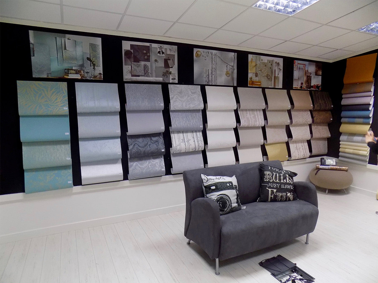 Graham and Brown wallpaper showroom England