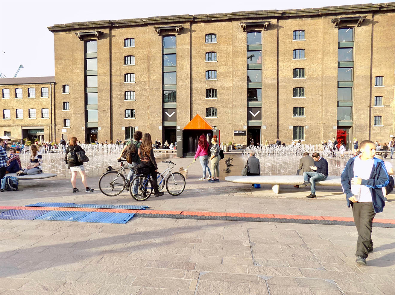 designjunction at Kings Cross Granary Square fountains