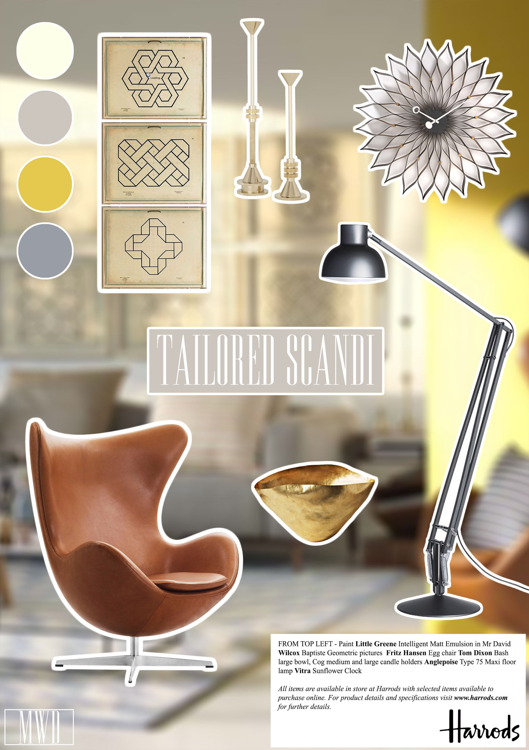 Harrods Home Summer Trends Yellow Tailored Scandi