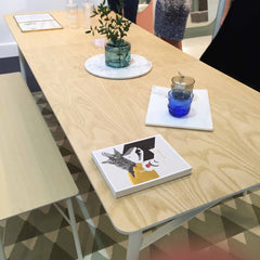 Heals AW15 Dodie collection dining room wooden table with benches