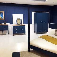 Heals blue pinner bedroom furniture collection
