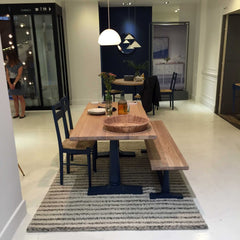 Heals AW15 Pinner Dining room table with chairs and bench