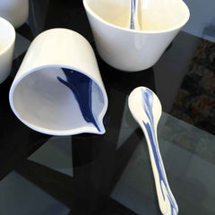 White porcelain spill design from Heals