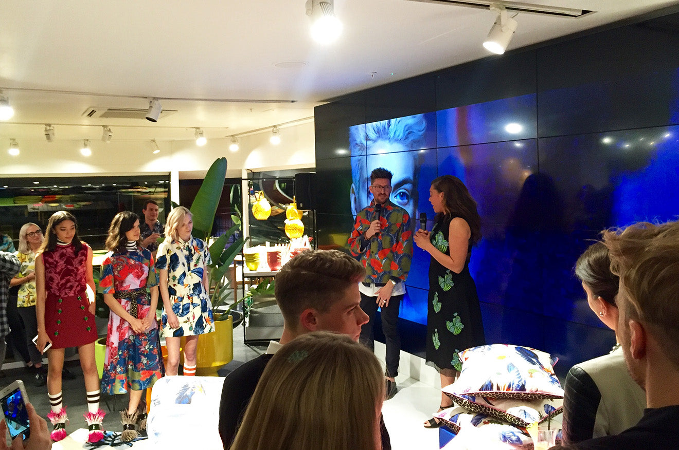 Henry Holland at the launch party of his new home collection at Habitat
