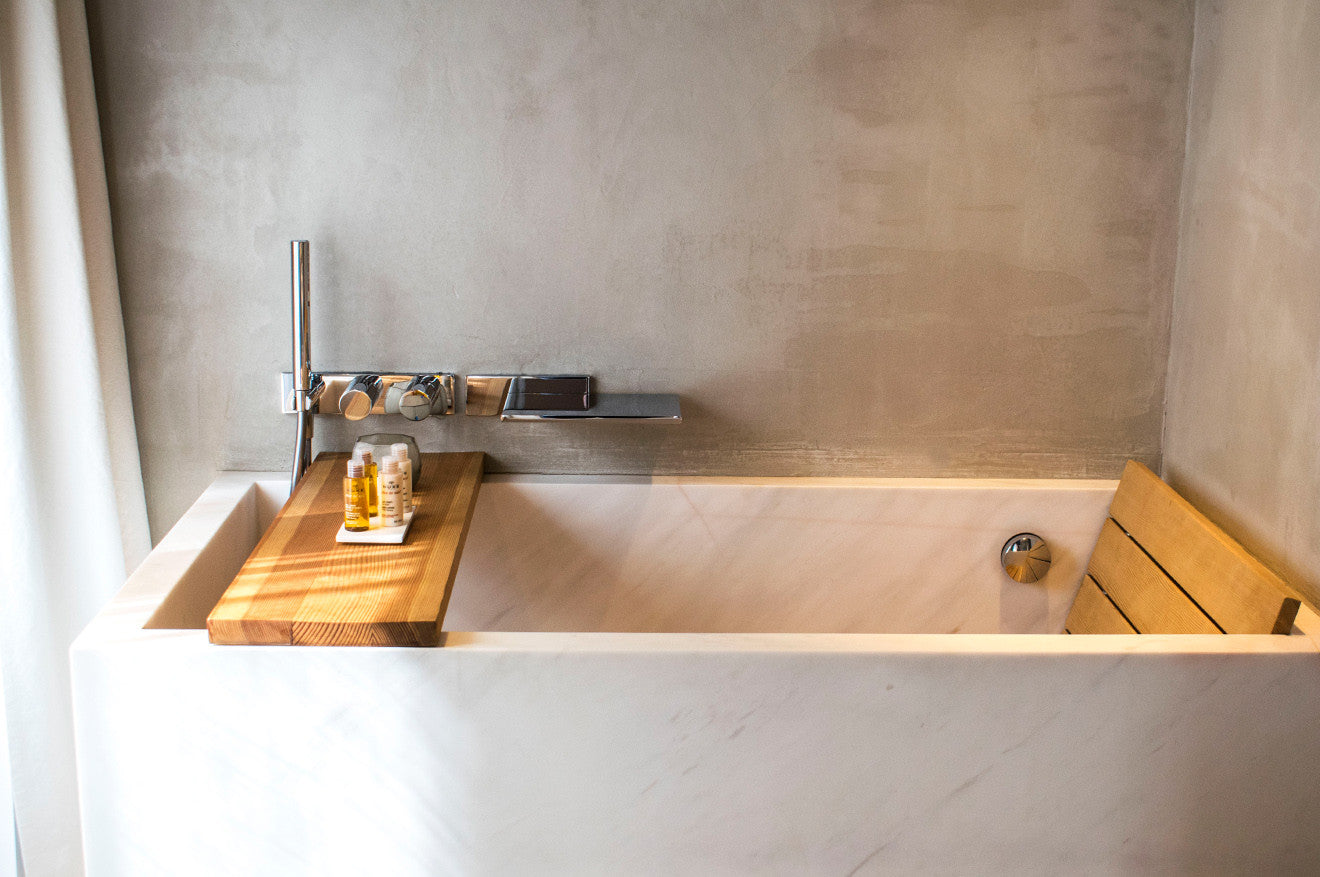 Marble Japanese bath in the Prestige suite at Hotel de NELL