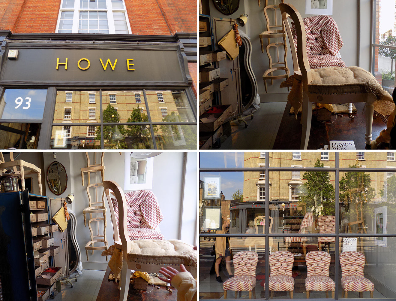Howe antiques and upholstery Pimlico road for London Craft Week