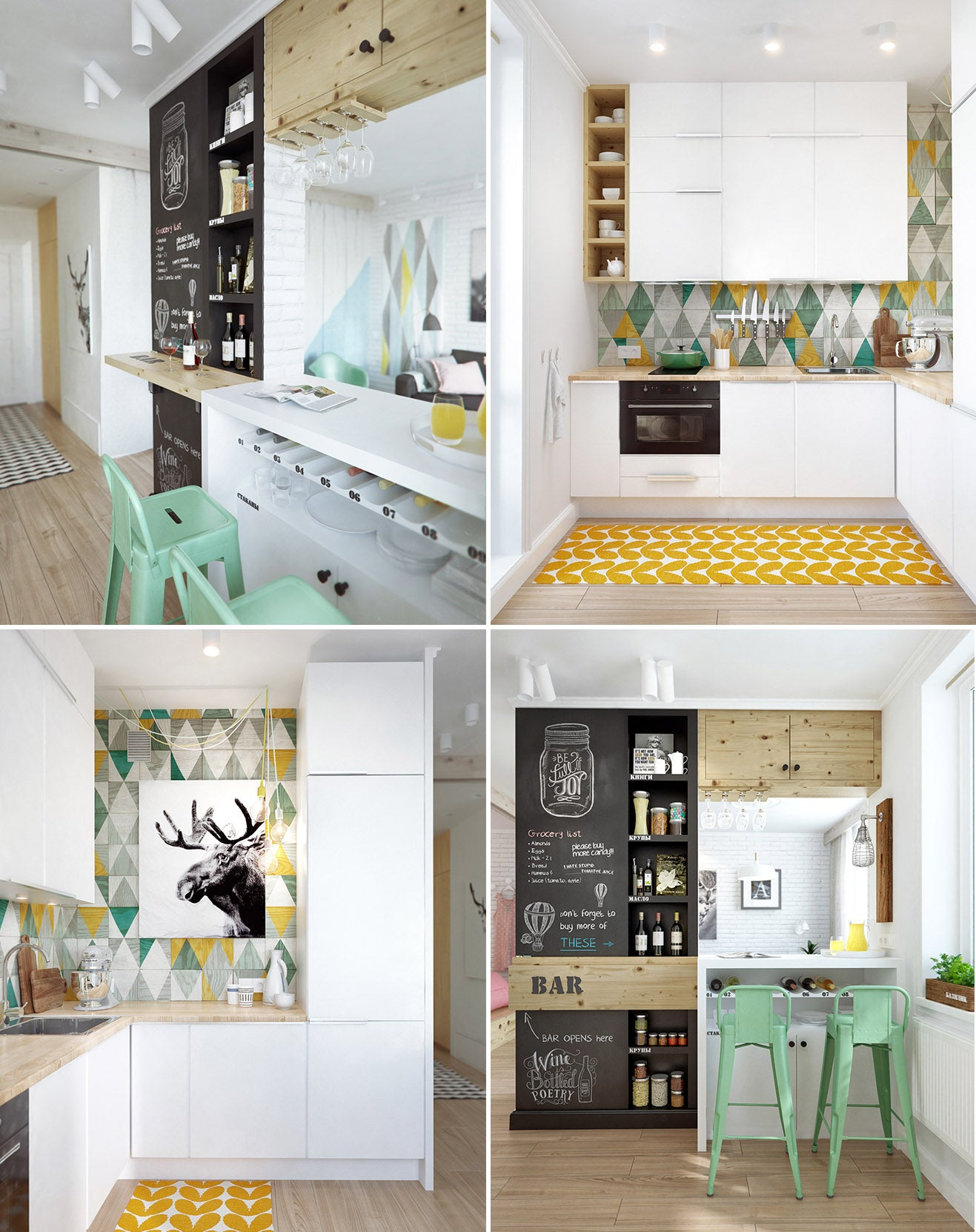 Pastel Kitchen Interior Design from INT2 Architecture